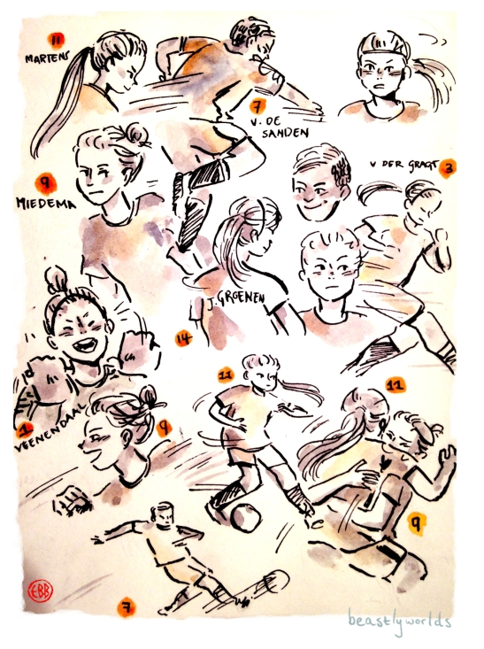 women's football sketches 1